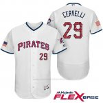Camiseta Beisbol Hombre Pittsburgh Pirates 2017 Estrellas y Rayas Francisco Cervelli Blanco Flex Base