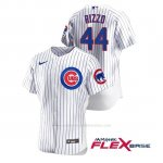 Camiseta Beisbol Hombre Chicago Cubs Anthony Rizzo Autentico Nike Blanco
