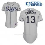 Camiseta Beisbol Hombre Tampa Bay Rays Asdrubal Cabrera 13 Gris Cool Base