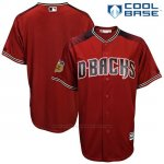 Camiseta Beisbol Hombre Arizona Diamondbacks Rojo 2017 Entrenamiento de Primavera Cool Base