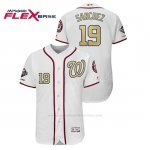 Camiseta Beisbol Hombre Washington Nationals Anibal Sanchez 2019 Gold Program Flex Base Blanco