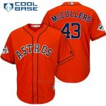 Camiseta Beisbol Hombre Houston Astros 2017 World Series Lance Mccullers Naranja Cool Base