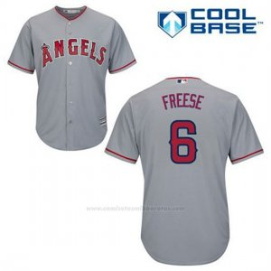 Camiseta Beisbol Hombre Los Angeles Angels David Freese 6 Gris Cool Base
