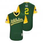 Camiseta Beisbol Hombre Oakland Athletics Khris Davis 2018 Llws Players Weekend Kd Green
