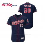 Camiseta Beisbol Hombre Minnesota Twins Eddie Rosario 150th Aniversario Patch Autentico Flex Base Azul2