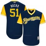 Camiseta Beisbol Hombre Milwaukee Brewers 2017 Little League World Series Oliver Drake Azul
