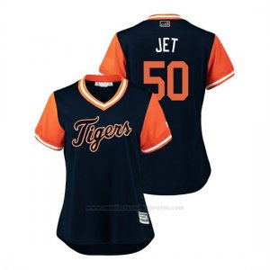 Camiseta Beisbol Mujer Detroit Tigers Jacob Turner 2018 Llws Players Weekend Jet Azul