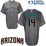 Camiseta Beisbol Hombre Arizona Diamondbacks 14 Peter O'brien Cool Base Gris