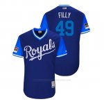 Camiseta Beisbol Hombre Kansas City Royals Heath Fillmyer 2018 Llws Players Weekend Filly Royal