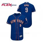 Camiseta Beisbol Hombre New York Mets Brandon Nimmo 150th Aniversario Patch Autentico Flex Base Azul