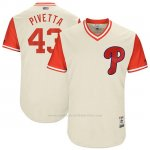 Camiseta Beisbol Hombre Philadelphia Phillies 2017 Little League World Series Nick Pivetta Tan