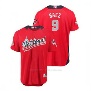Camiseta Beisbol Hombre All Star Game Chicago Cubs Javier Baez 2018 1ª Run Derby National LeagueRojo