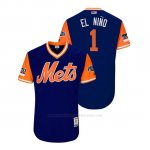 Camiseta Beisbol Hombre New York Mets Amed Rosario 2018 Llws Players Weekend El Nino Royal
