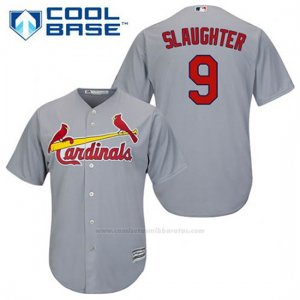 Camiseta Beisbol Hombre St. Louis Cardinals Enos Slaughter 9 Gris Cool Base