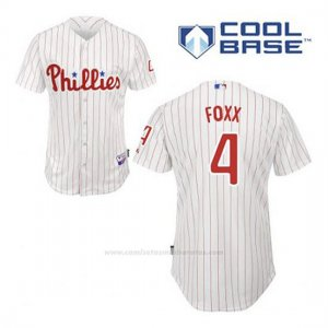 Camiseta Beisbol Hombre Philadelphia Phillies Jimmy Foxx 4 Blanco 1ª Cool Base