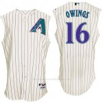 Camiseta Beisbol Hombre Arizona Diamondbacks 16 Chris Owings Blanco Turn Back The Clock