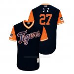 Camiseta Beisbol Hombre Detroit Tigers Jordan Zimmermann 2018 Llws Players Weekend J Z Azul