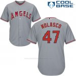 Camiseta Beisbol Hombre Los Angeles Angels 47 Ricky Nolasco Gris Cool Base