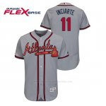 Camiseta Beisbol Hombre Atlanta Braves Ender Inciarte 150th Aniversario Patch Autentico Flex Base Gris