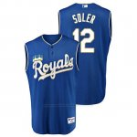 Camiseta Beisbol Hombre Kansas City Royals Jorge Soler Throwback Turn Ahead Azul