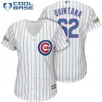 Camiseta Beisbol Mujer Chicago Cubs 2017 Postemporada 62 Jose Quintana Blanco Cool Base