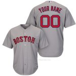 Camiseta Nino Boston Red Sox Personalizada Gris