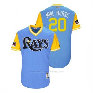 Camiseta Beisbol Hombre Rays Tyler Glasnow 2018 Llws Players Weekend Mini Horse Light Toronto Blue Jays