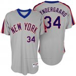 Camiseta Beisbol Hombre New York Mets Noah Syndergaard Turn Back The Clock Gris