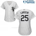 Camiseta Beisbol Mujer Chicago White Sox 25 Adam Laroche Wilson Ramos Blanco Autentico Coleccion Cool Base
