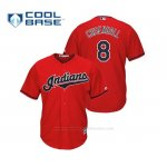 Camiseta Beisbol Hombre Cleveland Indians Lonnie Chisenhall Cool Base Majestic Alternato 2019 Rojo