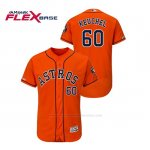 Camiseta Beisbol Hombre Houston Astros Dallas Keuchel 150th Aniversario Patch Flex Base Naranja