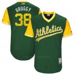 Camiseta Beisbol Hombre Oakland Athletics 2017 Little League World Series Jaycob Brugman Verde