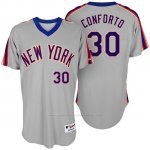 Camiseta Beisbol Hombre New York Mets Michael Conforto Turn Back The Clock Gris