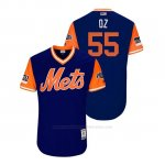 Camiseta Beisbol Hombre New York Mets Corey Oswalt 2018 Llws Players Weekend Oz Royal