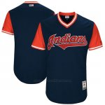 Camiseta Beisbol Hombre Cleveland Indians 2017 Little League World Series Indians Azul