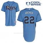 Camiseta Beisbol Hombre Tampa Bay Rays Chris Archer 22 Azul Alterno Cool Base