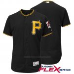 Camiseta Beisbol Hombre Pittsburgh Pirates Flex Base Negro Autentico Coleccion