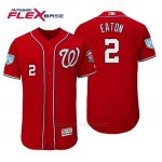 Camiseta Beisbol Hombre Washington Nationals Adam Eaton Flex Base Entrenamiento de Primavera 2019 Rojo