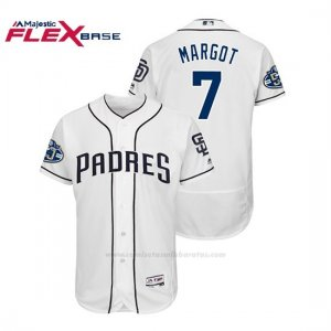 Camiseta Beisbol Hombre Padres Manuel Margot 50th Aniversario Home Flex Base Blanco