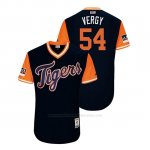 Camiseta Beisbol Hombre Detroit Tigers Drew Verhagen 2018 Llws Players Weekend Vergy Azul