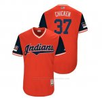 Camiseta Beisbol Hombre Cleveland Indians Cody Allen 2018 Llws Players Weekend Chicken Rojo