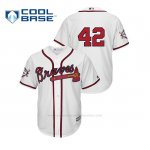 Camiseta Beisbol Hombre Atlanta Braves 2019 Jackie Robinson Day Cool Base Blanco