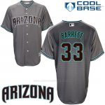 Camiseta Beisbol Hombre Arizona Diamondbacks 33 Jake Barrett Cool Base Gris