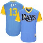 Camiseta Beisbol Hombre Tampa Bay Rays 2017 Little League World Series Brad Miller Azul