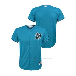 Camiseta Beisbol Nino Miami Marlins Cool Base Alternato Azul
