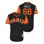 Camiseta Beisbol Hombre San Francisco Giants Casey Kelly 2018 Llws Players Weekend Kelly Negro