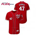 Camiseta Beisbol Hombre Washington Nationals Howie Kendrick 150th Aniversario Patch Autentico Flex Base Rojo