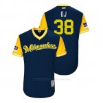 Camiseta Beisbol Hombre Milwaukee Brewers Dan Jennings 2018 Llws Players Weekend Dj Azul