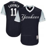 Camiseta Beisbol Hombre New York Yankees 2017 Little League World Series Brett Gardner Azul