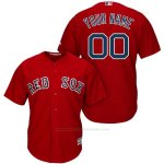 Camiseta Boston Red Sox Personalizada Rojo